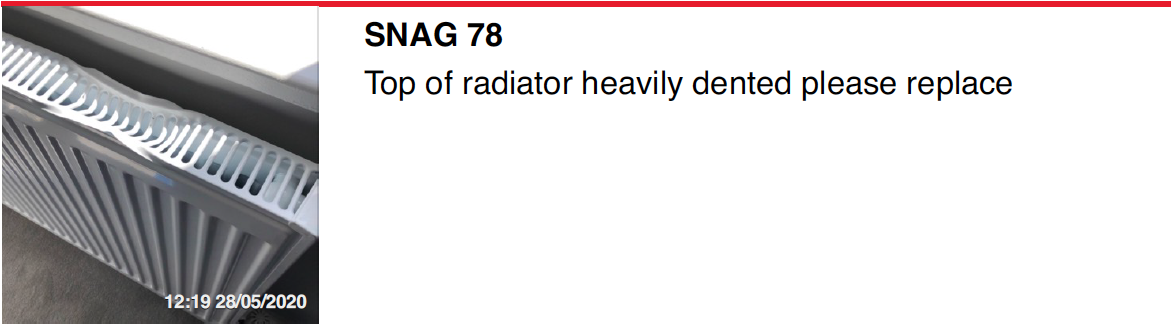 Radiator top